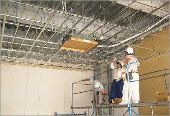天井下地組、電気配線