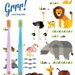 【ポスター】歯ブラシの使い方を教えています